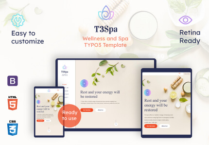 T3 Spa - Wellness TYPO3 Template